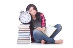 年轻女学生失踪 免版税图库摄影