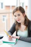 女学生学习 免版税库存图片
