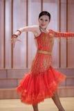 女学生拉丁舞蹈家 免版税库存照片