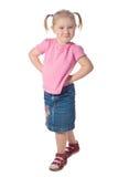 女孩一点姿势 免版税图库摄影