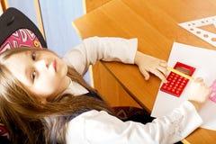 女孩一点疲倦了 免版税图库摄影