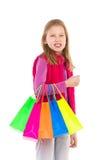 女孩一点购物 免版税库存图片