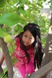 女孩上升的树 库存图片