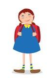 女孩上学 免版税库存照片
