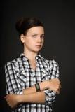 女孩不满意 免版税库存照片