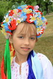 女孩乌克兰语 库存图片