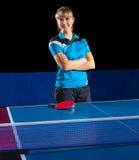 女孩乒乓球球员(被隔绝的ver) 库存图片