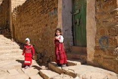 女孩也门年轻人 库存图片