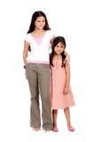 女孩二个年轻人 免版税图库摄影