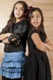 女孩二个年轻人 免版税库存照片