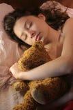 女孩休眠 免版税库存图片