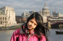 女孩伦敦 免版税图库摄影
