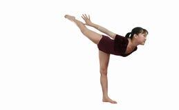 女孩体操姿势 免版税图库摄影