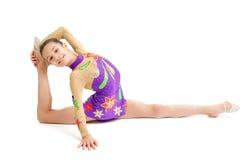 女孩体操运动员 免版税库存照片