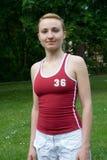 女孩体育运动 免版税库存图片
