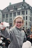 女孩使用 免版税图库摄影