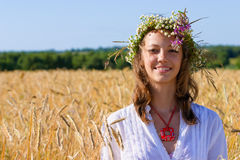 女孩俄语 免版税库存图片