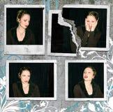女孩偏正片noir的照片 免版税库存图片