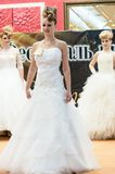 女孩兢争者婚礼发型 图库摄影