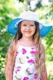 女孩公园微笑结构 库存照片