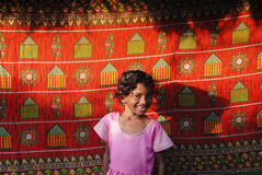 女孩农村的印度 免版税库存图片