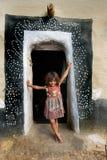 女孩农村的印度 图库摄影