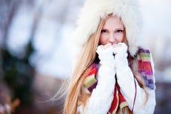 女孩冬天 库存图片