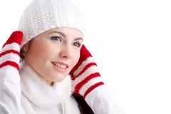 女孩冬天 免版税图库摄影