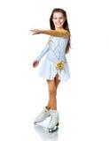 女孩冰鞋 图库摄影