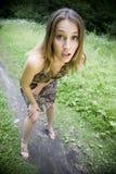 女孩冲击了惊奇 库存照片