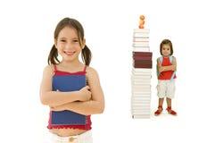 女孩准备学校 免版税图库摄影