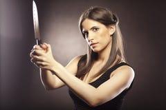 女孩凶手 免版税库存图片