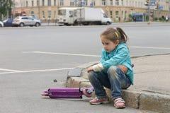 女孩创伤 免版税图库摄影