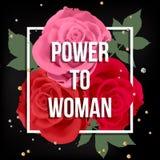 女孩力量海报 库存例证