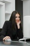 女孩办公室 免版税图库摄影