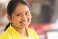 女孩印地安人微笑少年 免版税库存照片