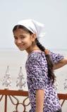 女孩印地安人微笑 免版税库存图片