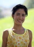 女孩印地安人微笑 免版税库存照片