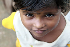 女孩印地安人村庄 库存照片