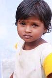 女孩印地安人村庄 免版税库存照片