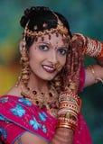 女孩印第安传统 库存照片