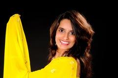 女孩印第安可爱 免版税库存照片
