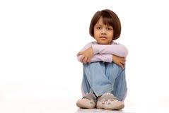 女孩印第安小的纵向 免版税图库摄影