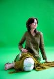 女孩印第安微笑甜点 图库摄影