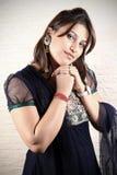 女孩印第安模型旁遮普语 免版税库存照片