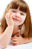 女孩可爱的幼稚园 库存图片