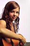 女孩吉他西班牙语 免版税库存图片