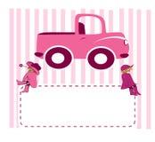 女孩和卡车 库存图片
