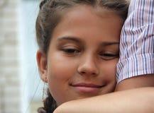女孩和父亲 免版税图库摄影