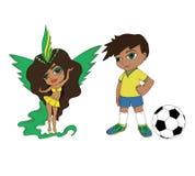 女孩和男孩从巴西 库存图片